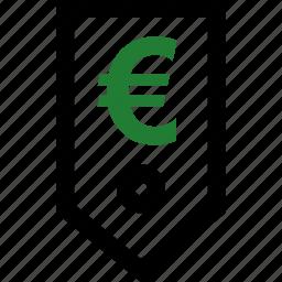 euro, guardar, money, save, savings, sign, tag icon
