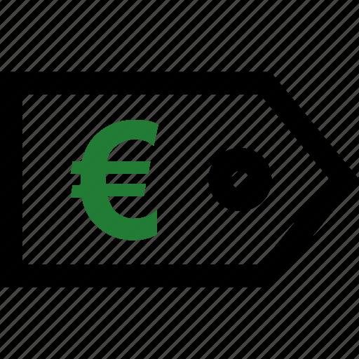 euro, money, sign, tag icon