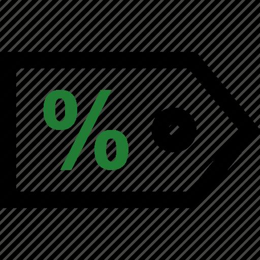 percent, percentage, sale, tag icon