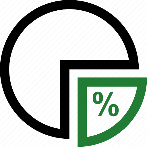 chart, graph, percentage, pie icon