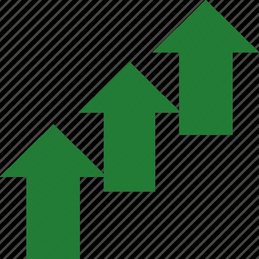 arrows, good, increase, up icon