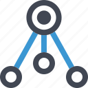 analytics, connect, connection, data, graph, report, send icon