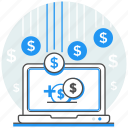 money, online, payment, services, transaction icon