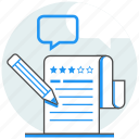 comment, online, rating, review, services, survey, test icon