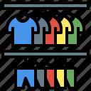closet, clothing, garment, shirt, wardrobe
