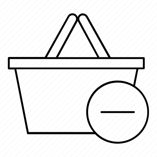 basket, delete, online, purchase, remove, shopping icon