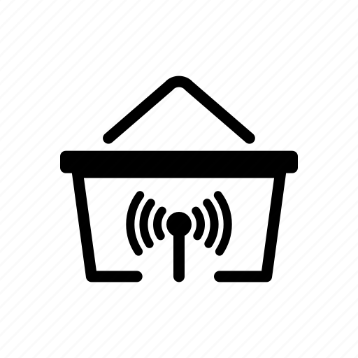 alart, basket, online, shopping icon