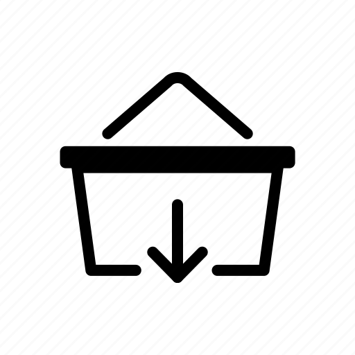 basket, down, download, online, shopping icon