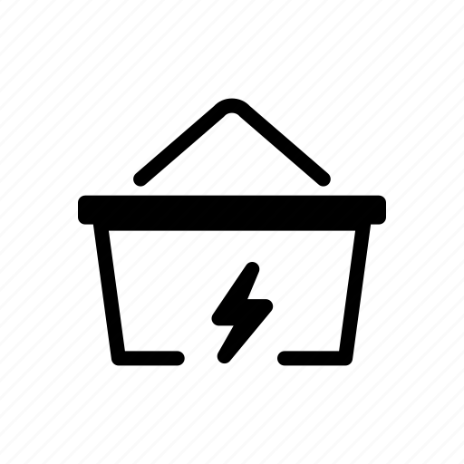 basket, fast, lighting, online, quick, shopping, trending icon