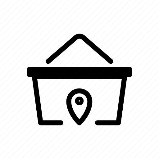 basket, location, online, place, shopping icon