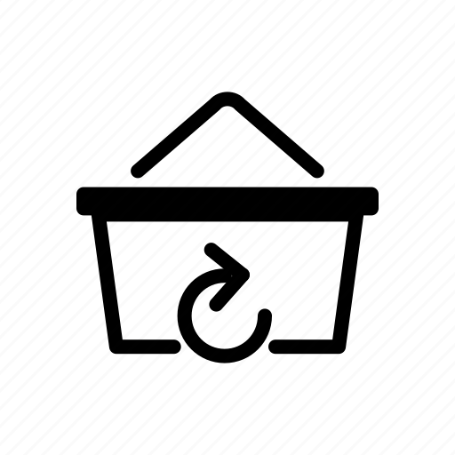 basket, online, recycle, retry, return, shopping icon