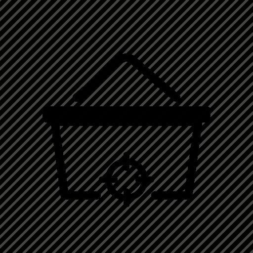 basket, focus, online, shopping, target icon