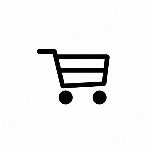 basket, cart, empty, shopping, trolley icon