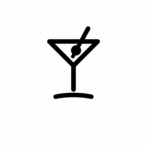cocktail, drink, glass, martini, olive, party, toothpic icon