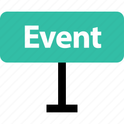 event, online, road, shop, shopping, sign icon