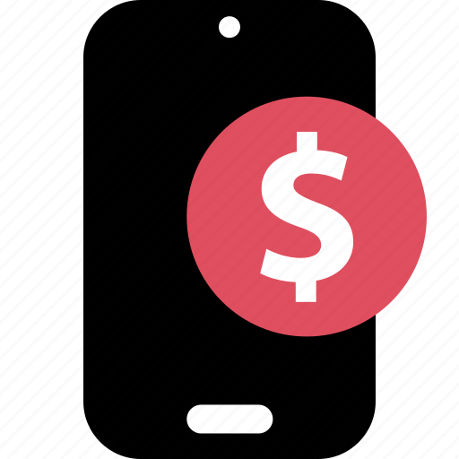 dollar, mobile, online, shop, shopping, sign icon