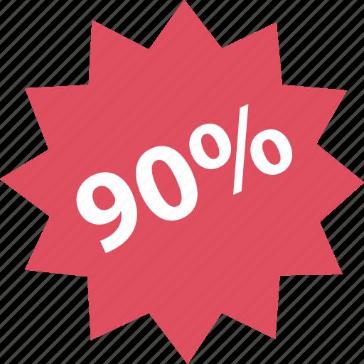 ninetly, off, online, percent, shop, shopping icon