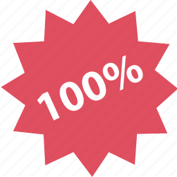 hundred, one, online, percent, shop, shopping icon