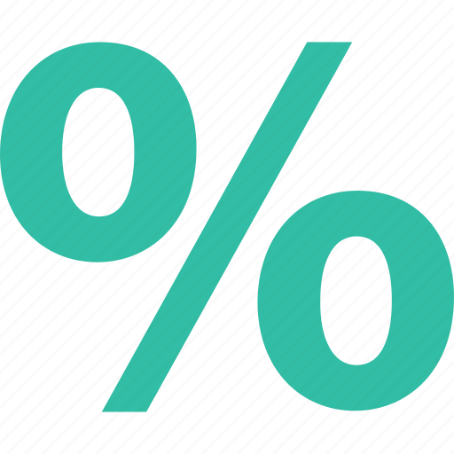 online, percent, rate, shop, shopping icon
