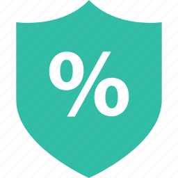 online, percentage, shield, shop, shopping icon