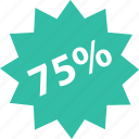 five, off, online, percent, seventy, shop, shopping icon