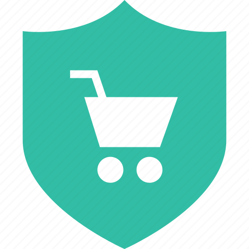 cart, online, safe, shield, shop, shopping icon