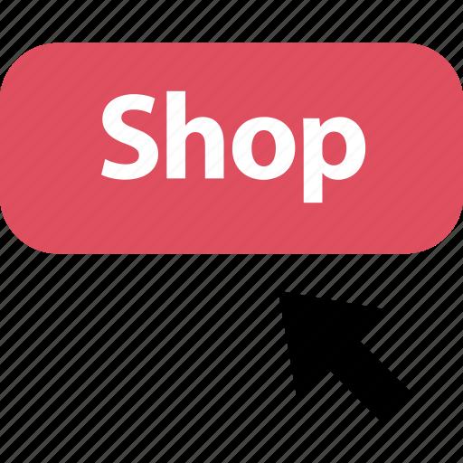 arrow, click, online, shop, shopping icon