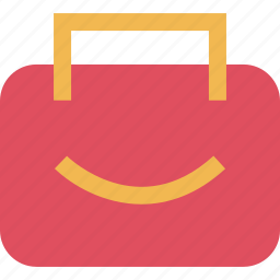 bag, mall, online, shop, shopping, smile icon