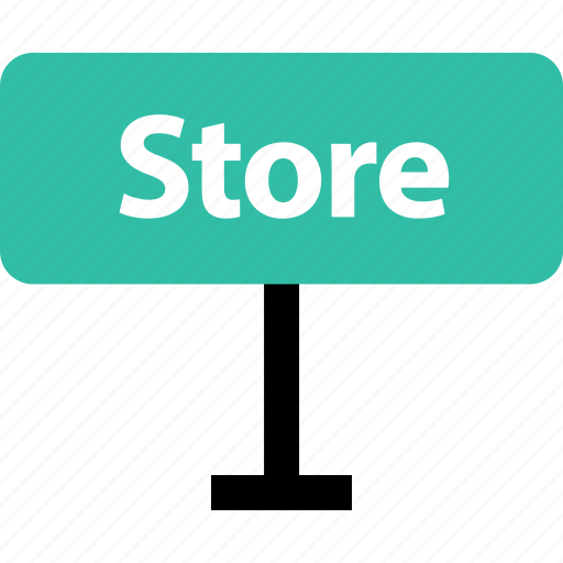 online, shop, shopping, sign, store, way icon