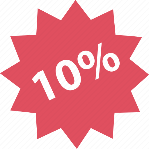 off, online, percent, shop, shopping, ten icon
