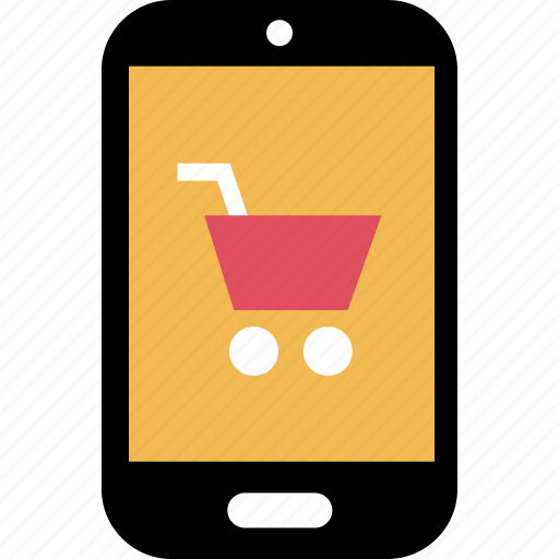 cell, mobile, phone, shopping icon