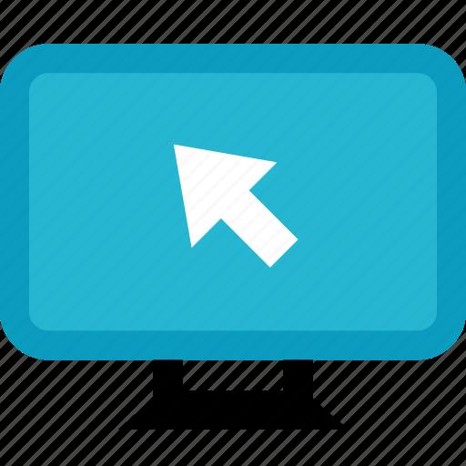 arrow, computer, online, shop, shopping icon
