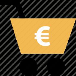 cart, euro, online, shop, shopping icon