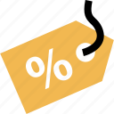 online, percent, shop, shopping, tag icon