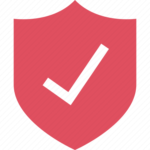 check, list, secured, shield icon