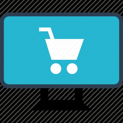 cart, computer, shopping icon