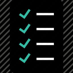 cart, list, shopping icon