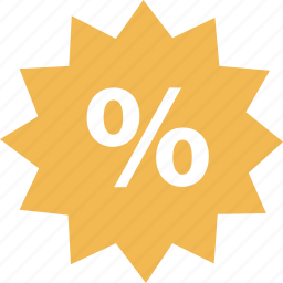 online, percent, tag icon