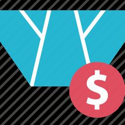 buy, clothing, dollar, underwear icon