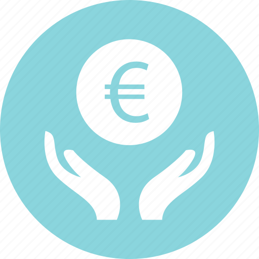business, currency, euro, hands, online icon