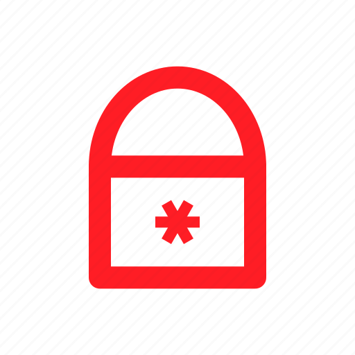 lock, locked, padlock, password icon