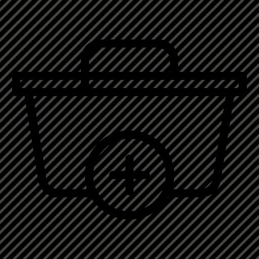 add, basket, business, commerce, sale, technology, web icon