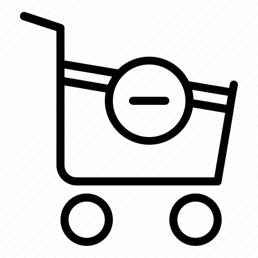 business, cart, commerce, remove, sale, technology, web icon