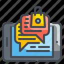 automatic, bot, chat, communication, faq, mobile, smartphone icon