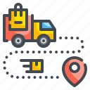 delivery, gps, location, map, pin, pointer, position icon