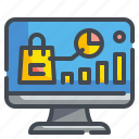 analytics, business, commerce, seo, shopping, stat, website icon