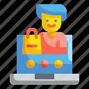 avatar, interface, lock, login, profile, ui, user icon
