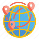 earth, geography, global, location, map, worldwide icon