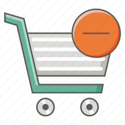 buy, cart, delete, online, purchase, remove, shopping icon