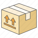 box, care, delivery, fragile, handle, product, purchase icon